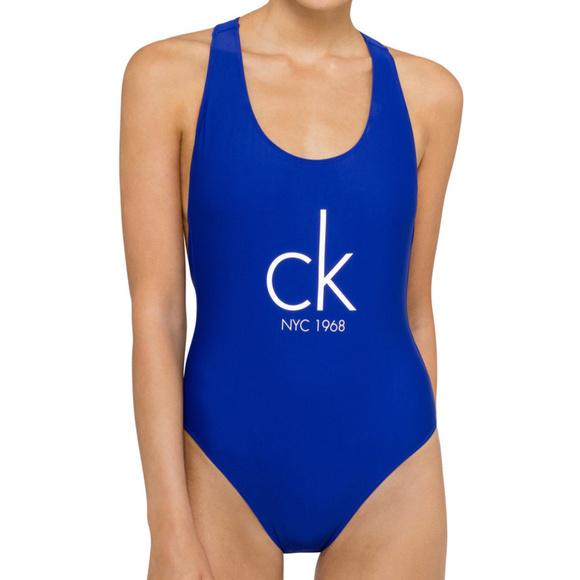 9b8f4f9825396 Calvin Klein Swimwear Cheeky Racer Back One Piece